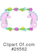 Royalty-Free (RF) Seahorses Clipart Illustration #26562