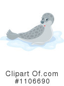 Royalty-Free (RF) Seal Clipart Illustration #1106690