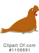 Royalty-Free (RF) Seal Clipart Illustration #1106691