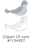 Royalty-Free (RF) Seal Clipart Illustration #1134357