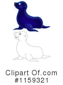 Royalty-Free (RF) Seal Clipart Illustration #1159321