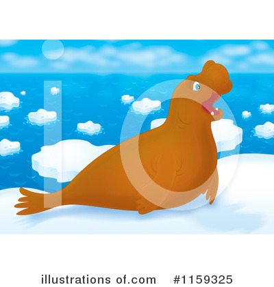 Royalty-Free (RF) Seal Clipart Illustration by Alex Bannykh - Stock Sample #1159325