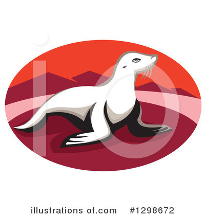 Royalty-Free (RF) Seal Clipart Illustration by patrimonio - Stock Sample #1298672