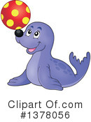 Seal Clipart #1378056 by visekart