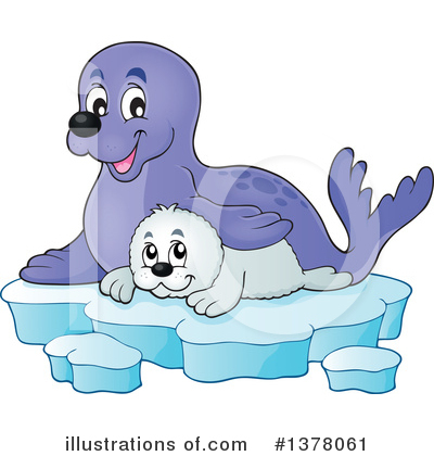 Royalty-Free (RF) Seal Clipart Illustration by visekart - Stock Sample #1378061