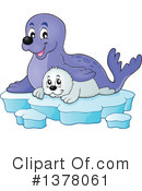 Royalty-Free (RF) Seal Clipart Illustration #1378061