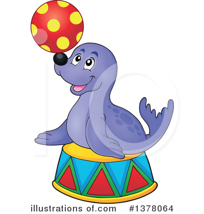Seal Clipart #1378064 by visekart