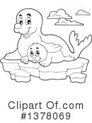 Royalty-Free (RF) Seal Clipart Illustration #1378069