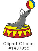 Royalty-Free (RF) Seal Clipart Illustration #1407955
