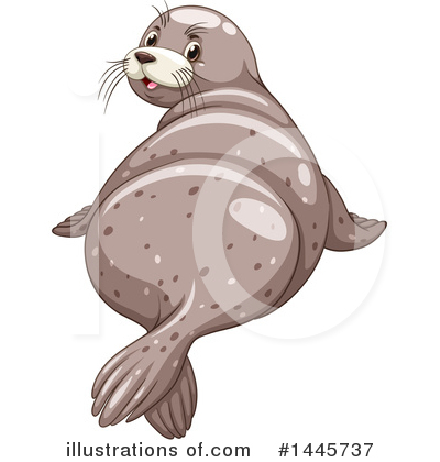 Royalty-Free (RF) Seal Clipart Illustration by Graphics RF - Stock Sample #1445737