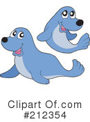 Royalty-Free (RF) Seal Clipart Illustration #212354