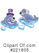 Royalty-Free (RF) Seal Clipart Illustration #221805
