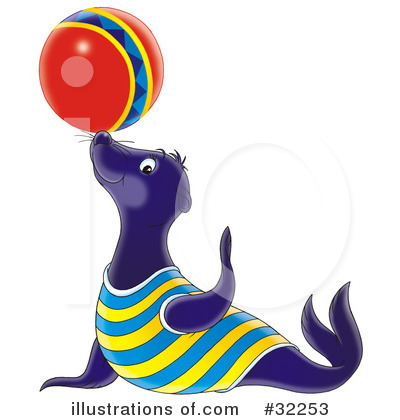 Royalty-Free (RF) Seal Clipart Illustration by Alex Bannykh - Stock Sample #32253