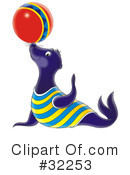 Royalty-Free (RF) Seal Clipart Illustration #32253