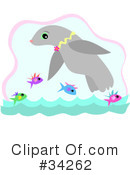 Royalty-Free (RF) seal Clipart Illustration #34262