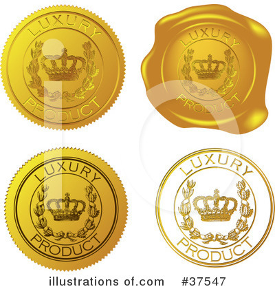 Royalty-Free (RF) Seal Clipart Illustration by Eugene - Stock Sample #37547