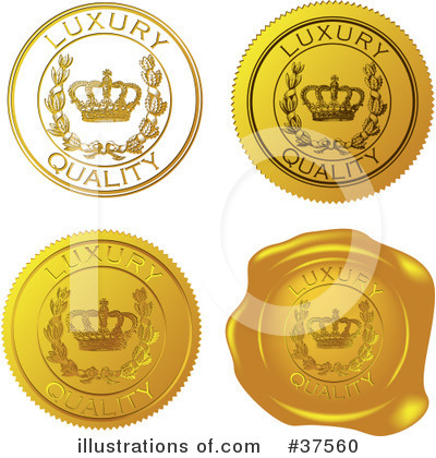 Royalty-Free (RF) Seal Clipart Illustration by Eugene - Stock Sample #37560
