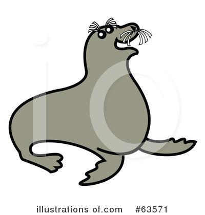 Royalty-Free (RF) Seal Clipart Illustration by Andy Nortnik - Stock Sample #63571