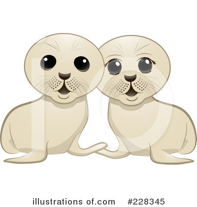 Royalty-Free (RF) Seal Pup Clipart Illustration by elaineitalia - Stock Sample #228345