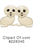 Royalty-Free (RF) Seal Pup Clipart Illustration #228345