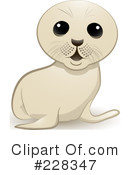 Royalty-Free (RF) Seal Pup Clipart Illustration #228347