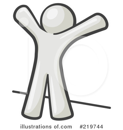 White Design Mascot Clipart #219744 by Leo Blanchette