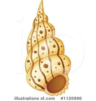Royalty-Free (RF) Seashell Clipart Illustration by Graphics RF - Stock Sample #1120996