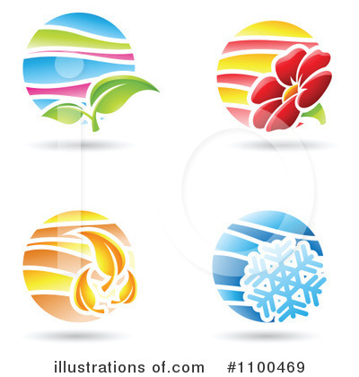 Royalty-Free (RF) Seasons Clipart Illustration by cidepix - Stock Sample #1100469