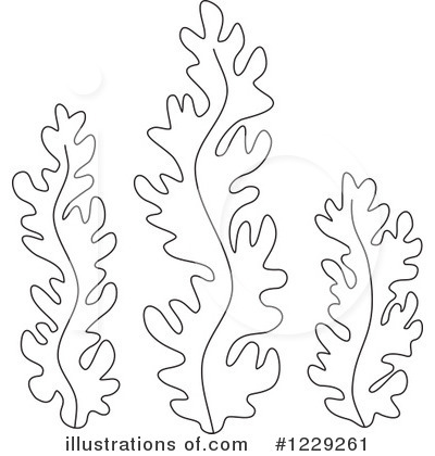 1229261 Royalty Free Seaweed Clipart Illustration on Coloring Sheets Of Sea Anemones