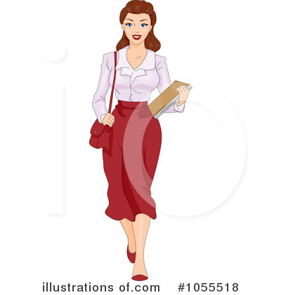 Secretary Clipart #1055518 by BNP Design Studio