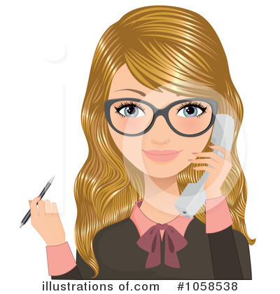 Businesswoman Clipart #1058538 by Melisende Vector
