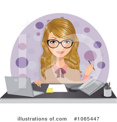 Businesswoman Clipart #1065447 by Melisende Vector