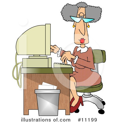 Secretary Clipart #11199 by djart