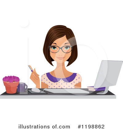 Businesswoman Clipart #1198862 by Melisende Vector