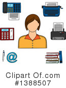 Royalty-Free (RF) Secretary Clipart Illustration #1388507