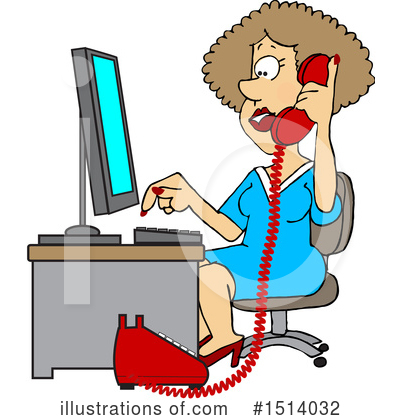 Royalty-Free (RF) Secretary Clipart Illustration by djart - Stock Sample #1514032