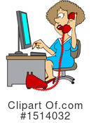 Secretary Clipart #1514032 by djart