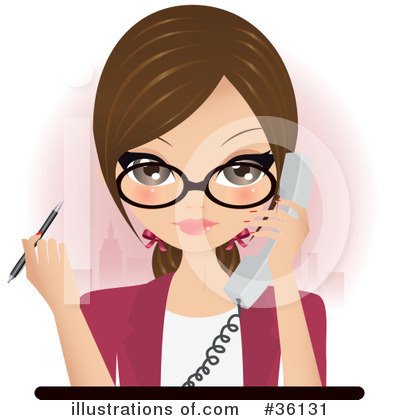 Secretary Clipart #36131 by Melisende Vector