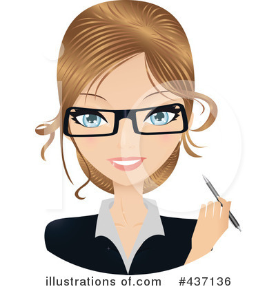 Glasses Clipart #437136 by Melisende Vector