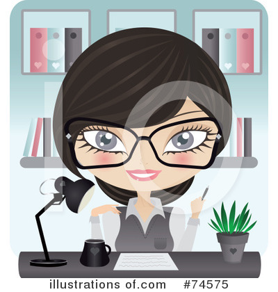 Secretary Clipart #74575 by Melisende Vector