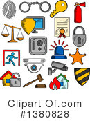 Royalty-Free (RF) Security Clipart Illustration #1380828