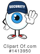 Royalty-Free (RF) Security Guard Eyeball Clipart Illustration #1413950