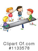 Royalty-Free (RF) See Saw Clipart Illustration #1133578