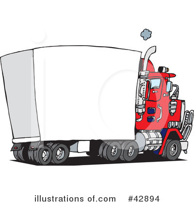 Royalty-Free (RF) Semi Clipart Illustration by Dennis Holmes Designs - Stock Sample #42894