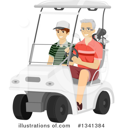 Golfing Clipart #1341384 by BNP Design Studio