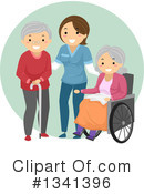 Senior Citizen Clipart #1341396 by BNP Design Studio