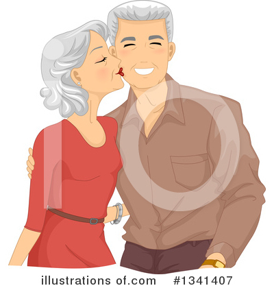 Kissing Clipart #1341407 by BNP Design Studio