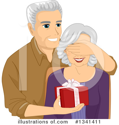 Senior Couple Clipart #1341411 by BNP Design Studio