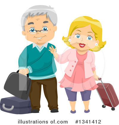 Senior Couple Clipart #1341412 by BNP Design Studio