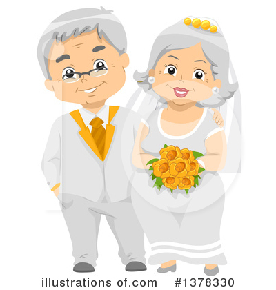 Wedding Couple Clipart #1378330 by BNP Design Studio